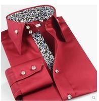 Mererized Cotton  Men Formal Dress Shirts Korea Style Long Sleeve Shirt New 2014 Autumn-Summer
