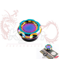Neo chrome SK2 BILLET OIL CAP WITH two additional center plaque for a alternate look For HONDA CIVIC CRX ACCORD INTEGRA