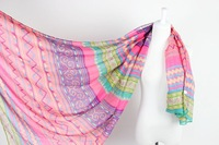 Brand New Infinity Wraps Woman Scarves Style Print Silk Scarf Voile Aztec Scarf Tippet Shawls For Foulard Women Size 180*90CM