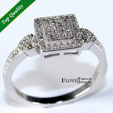 The Ring Crystal Ring Womens Jewellery Wedding/Birthday/Anniversary Rings for Women Gift Ulove Fashion Jewelry Y010(China (Mainland))