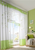 2014 new free shipping embroidered window curtains window screening living room  green /grey / purple 140*225/245/260cm