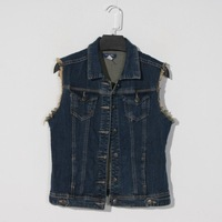 New arrival 2014 women's ugly casual fashion water wash denim vest outerwear women's
