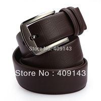 Black coffee Famous Brand Luxury Belts Men Belts Waist Cowskin Leahter Crocodile Stpripe Smooth Buckle 2014 New Design blet1