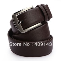 Black coffee Famous Brand Luxury Belts Men Belts Waist Cowskin Leahter Crocodile Stpripe Smooth Buckle 2014 New Design blet1