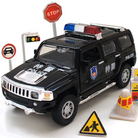 Hummer police car h3 special police car alloy WARRIOR car model toys