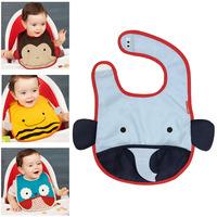 American animal baby! bibs waterproof clothing 0012 rice