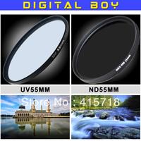 Digital Boy 10 years 55mm ND2-400 Filter + UV  Filter Kit for Sony Alpha A390 A33 A55 A35 A65 A77 A57 A37 A99 Camera