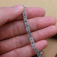 Bangkok silver s925 pure silver thai silver marcasite vintage Women bracelet