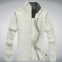 AFSJEEP  fashion 2014  Leisure sports cardigan men  pullovers  brand name sweaters men  men sport sweater