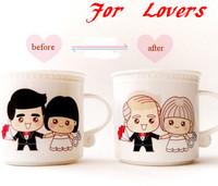 China Bone Ceramic Cup Lovers Gifts Hot sensor color change Coffee Mugs