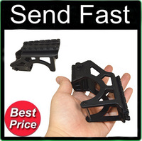 Send Fast Sporting Tactical Laser Flashlight Mount With Rail For Glock GIS G17 for Scope Pistol