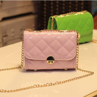 2013 bag women's bag one shoulder cross-body bag small mini plaid chain bag waist pack