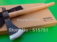Forged steel Custom Handmade ax, wood handle handle, nylon sheath, free shipping