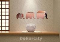 free shipping 3pcs/set creative elephant acrylic mirror wall stickers E010