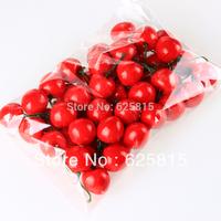 Hot Sale 60pcs Red Foam Cherry Decorative Artificial Fruit Garden House Indoor Decor 60-124