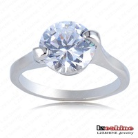 Couple Promise Ring Platinum Plating Round Shape Clear Austrian Crystals SWA Elements Engagement Rings 22*10mm Ri-HQ0249-e