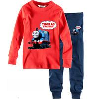 100% cotton 1pc retail 2-7 years kids pyjama pajamas pyjamas sleepwear pyjamas kids thomas design