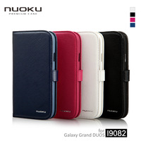 Wholesale and Retail Cell Phone Case for Samsung Galaxy Grand Duos i9082 High Quality Genuine Leather BOOK, Free Shipping