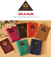 2014 New Arrived Candy Color Triangle Humming Passport Case Card Holder Cover Hot Sale PU Part Free Shipping Wholesale