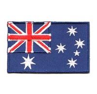 "2.5"", 80%,92,100pcs/bag,MOQ50pcs,Australia,embroidery patch,flag badge,merrow flat broder,iron on backing,PAM,Strict quality"