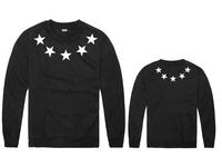 New Free Shipping Loose Style  Mens  5 stars Print CREWNECK Sportswear Hip Hop Rap Sweatshirt Sweater