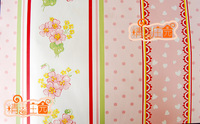 Doll house mini dollhouse furniture wallpaper wide 45cm pink big flower romantic personality