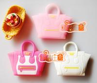 Doll house dollhouse furniture accessories handbag white pink