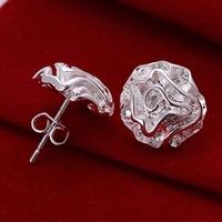 Wholesale 925 silver earring 925 silver fashion jewelry earring Rose stud Earrings