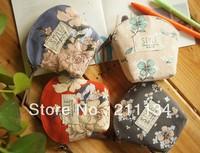 12 Pcs  Victoria Canvas Purse Women / Coin Purse / Wallet Women / Coin Bag / Cosmetic Bag