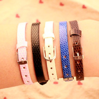 5/Color 2014 new Design Metal Fashion cute leather bracelet jewelry High-quality women's accessories