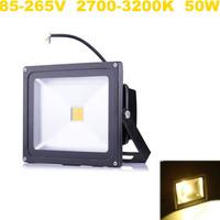 10pcs/lot,Outdoor Black Shell LED Flood Light Warm White 85-265V 50W Waterproof Garden Lamp Landscape Lighting ,Fedex Free!
