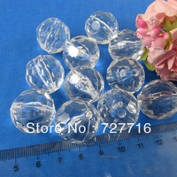 FREE SHIPPING- 50pcs 20mm sphere clear Acrylic Loose beads with hole / Jewelry accessories Beads