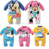 big discount!spring newborn baby wear boy girl rompers,newborn infant Mickey Minnie romper,baby jumpsuit,unisex
