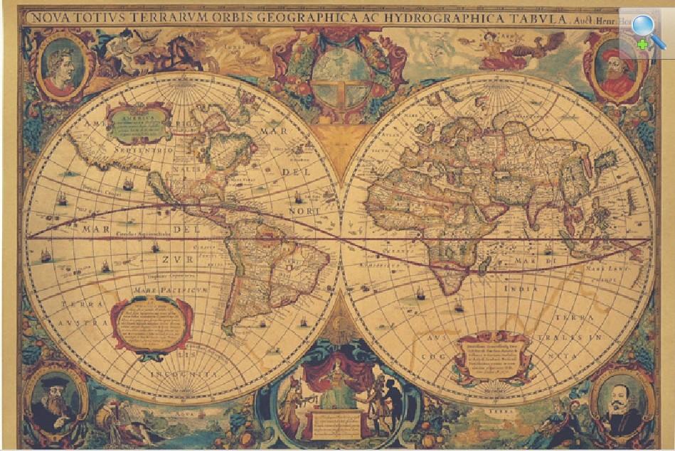 Nautical World Map Wallpaper Classic Nautical Maps