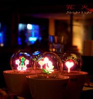 Romantic flowers small night light neon bonsai lamp birthday christmas gift