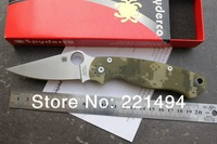 Free Shipping high quality Lovely Camo Spyderco Millitary C81 Style Compression style Mark S30V folding Knife