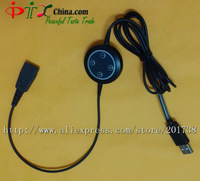 Headset USB / QD cables audio adaptor with QD plug / adjustable volume / mute switch for PLT headsets