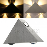 4W High Power Warm White 4 LED Aluminum Wall Light Lamp for Bedroom AC 90-240V