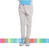 Free Shipping Spring Kids Pants Girls LEAVES Pattern Trousers K5262