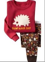 1set retail brand new boys and girls cartoon pajamas suits baby sleepwear kids fashion pyjamas sets baby pjs for 2-7Yrs