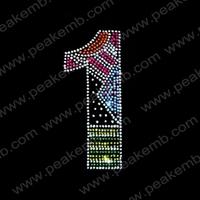 Wholesale 50Pcs/Lot New Design Free Dhl Shipping No.1 Rhinestone Iron On Transfer Crystal Embellishing For Decoration