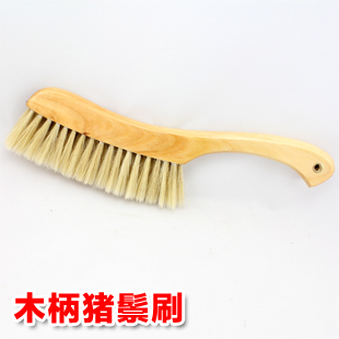 Bristle electrostatic brush bed solid wood dust brush wooden handle duster multifunctional clothes cleaning brush bed Small(China (Mainland))
