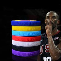 HOT!!!--Kobe Bryant  signature silicone bracelet