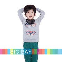 2014 New CASUAL Tops Boys Spring Streetwear Hoodies,New Kids Style Long Sleeve Tshirts,Free Shipping K5246
