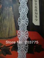 Zakka Style 100% Cotton Lace Ribbon Sewing Tape, Beige Lace Webbing, Cluny Lace Trim (26mm x 30yards) Free shipping