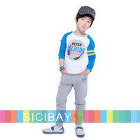 2014 Hot Boys Casual Tracksuits Baby Kids Spring 2pcs Clothing Sets,Leisure Tops + Harem Pants K5248