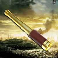 Free Shipping Sporting 30x40mm Nautical Brass Zoom Monocular Spyglass Telescope with Pouch
