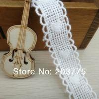 Zakka Style 100% Cotton Lace Ribbon Sewing Tape, Beige Lace Webbing, Cluny Lace Trim (22mm x 50 yards) Free shipping 5639