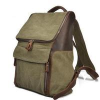 2014 men women genuine leather backpack canvas backpack fashion vintage backpack crazy horse leather casual bag