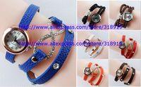 30pcs/lot 2014 Popular women ladies leather watch rope retro Vintage bracelet dress quartz watches with diamond crystal watch